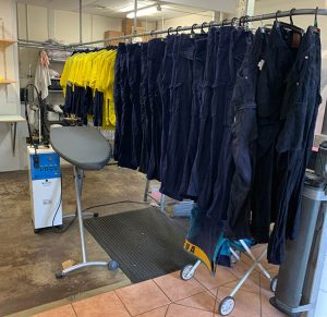 Washed Uniforms at Laundry Services Bunbury